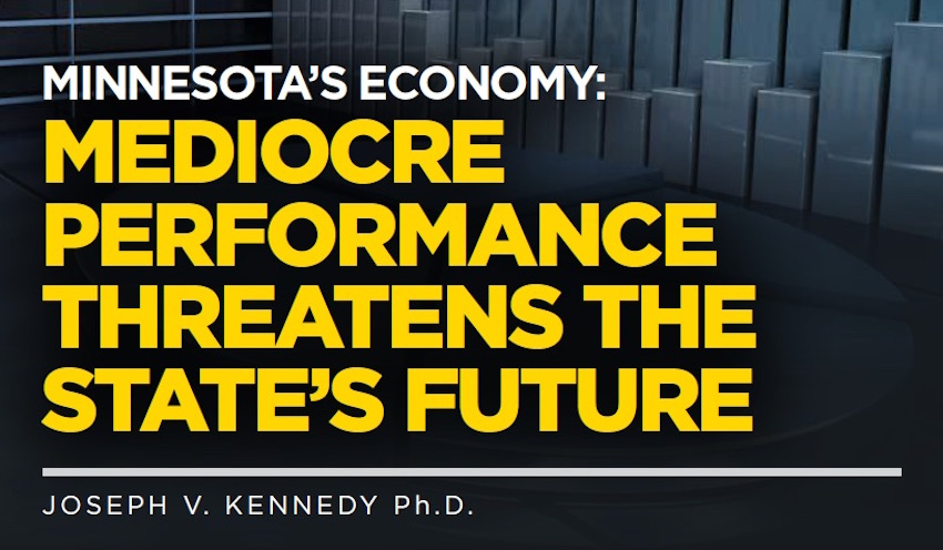 Picture from the front cover of the report titled Minnesota's Economy: Mediocre Performance Threatens the State's Future
